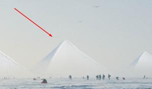 3 kim tự tháp ở Nam Cực. (Ảnh qua Alien Star)