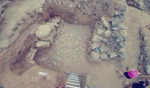 Tầng cổng bên trong từ thế kỷ 11 đến 10 trước Công nguyên được phát hiện vào năm 2018 tại các cuộc khai quật đang diễn ra tại Bethsaida. (Ảnh: Hanan Shafir)