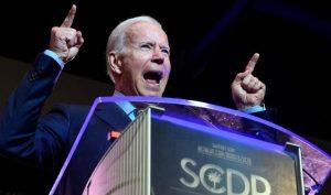 Cựu Phó Tổng thống Joe Biden diễn thuyết tại hội nghị của Đảng Dân chủ ở bang Nam Carolina, thứ 7, ngày 22/6/2019. (Ảnh: AP)