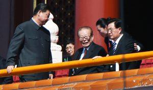 """Cuộc duyệt binh diễn ra vào tháng 9/ 2015 tại quảng trường Thiên An Môn, một số nguyên lão đã đến để """"cổ động""""."""