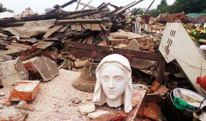 Nhà thờ Công giáo Liangwang ở huyện Licheng, khu vực ngoại ô Tế Nam đã bị phá hủy vì lý do cản trở các dự án đô thị.
