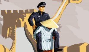 Bộ tranh biếm họa về cảnh sát Trung Quốc trong mắt người dân thế giới của họa sĩ Gunduz Aghayev.