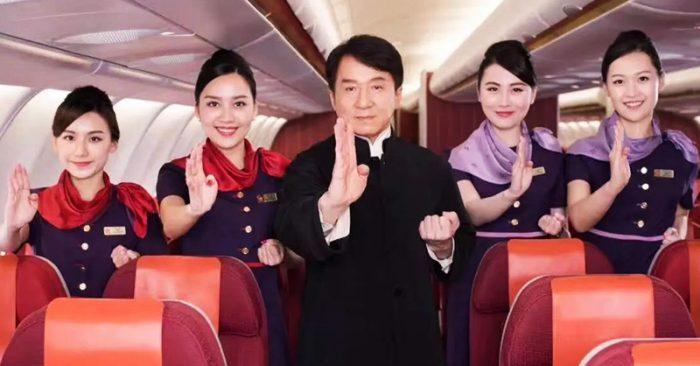 Thành Long từng quay một đoạn phim ngắn với bốn tiếp viên hàng không để quảng cáo một tuyến đường hàng không mới mở giữa Hồng Kông và Vancouver