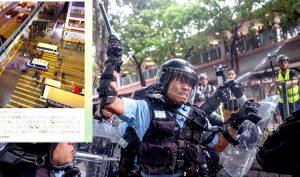 Cảnh sát HK lạm dụng bạo lực và bắt giữ người dân Hồng Kông một cách bừa bãi, khiến cả thế giới phải căm phẫn.(Ảnh: Getty Images)