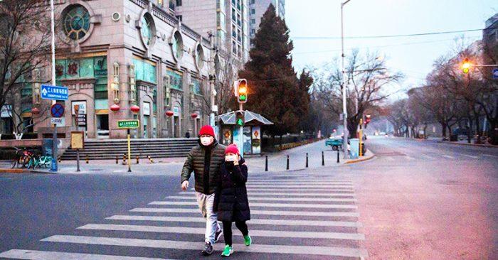Ngày 28/1, đường phố Bắc Kinh vắng vẻ vì dịch bệnh.