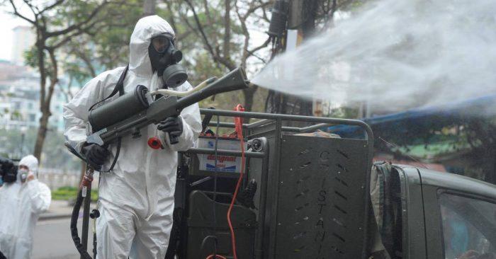 Hải Phòng phun khử trùng toàn thành phố để phòng dịch virus Vũ Hán
