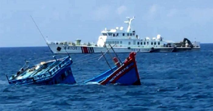 Quảng Ngãi Một tàu cá của ngư dân bị tàu Trung Quốc đâm chìm, 2 tàu cá khác bị bắt giữ trái phép 5