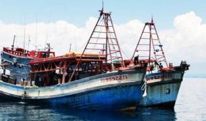Hai tàu cá Việt Nam bị phía Malaysia bắt giữ ở Kelantan.