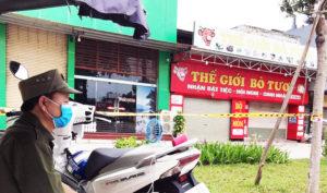 Nhà hàng Thế giới bò tươi ở TP Hải Dương bị phong tỏa.