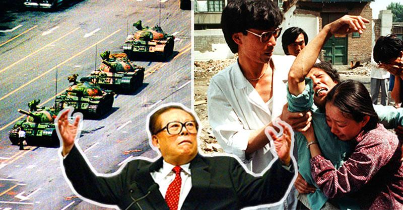 Bàn tay của Giang Trạch Dân nhuộm đầy máu của nhân dân Trung Hoa